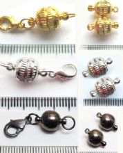 Magnetic Clasps 8mm x 2. GP, SP or Black. With or without lobster.